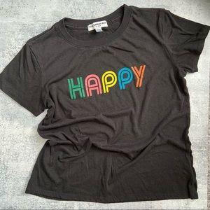 Sub_urban Riot Black HAPPY Multicolor Tee XS
